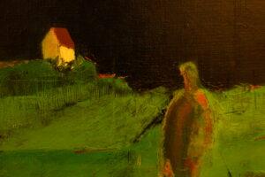 Maleri af kunstner Bent Ole Bærenholdt. Olie på lærred.
